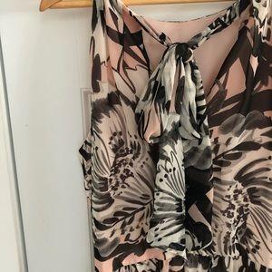 Eliza J Pink Floral Empire Waist Dress